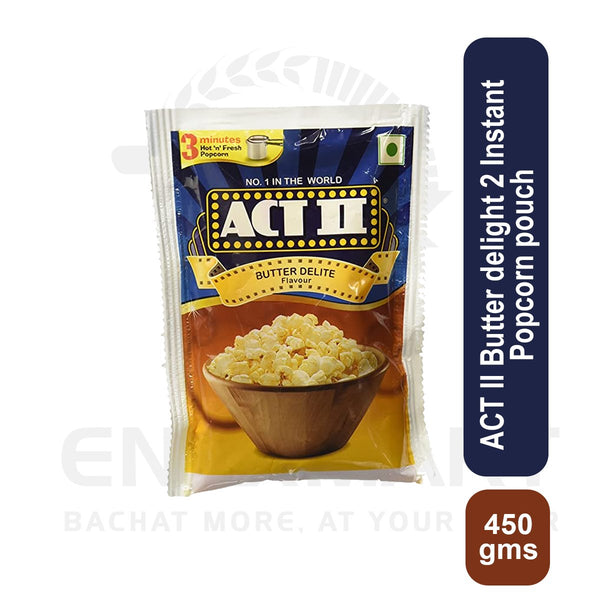 ACT II Butter delight 2 Instant Popcorn pouch 450 gms