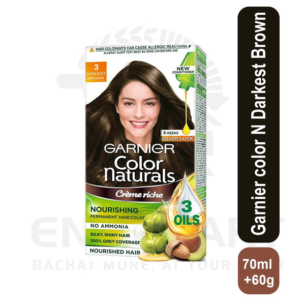Garnier color Nt Darkest Brown 70 ml +60 g