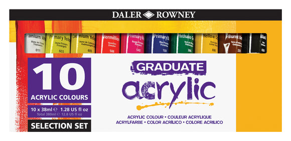 Graduate Acrylic Selection Set  10x38ml