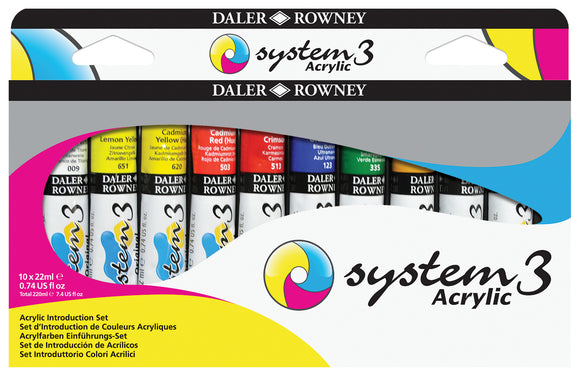System 3 Acrylic Introduction Set  10x22ml