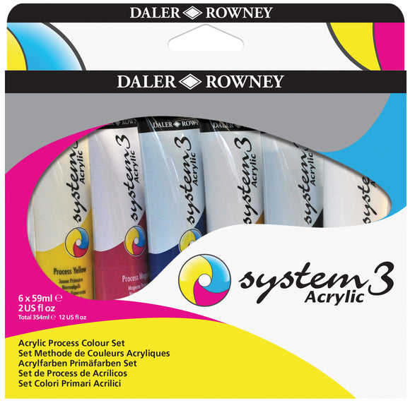 System 3 Acrylic Mixing set 6x59ml