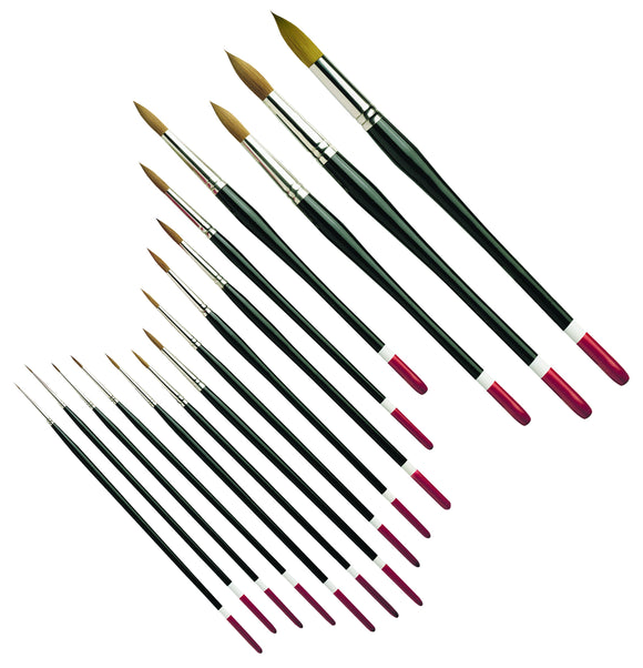 Pro Arte Series 100 Connoiseur Artists Watercolour Brushes - Round