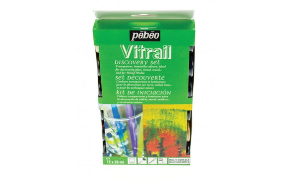 Pebeo Vitrail Discovery 12 Set