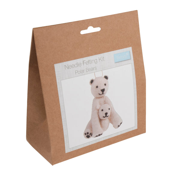 Polar Bears Needle Felting Kit
