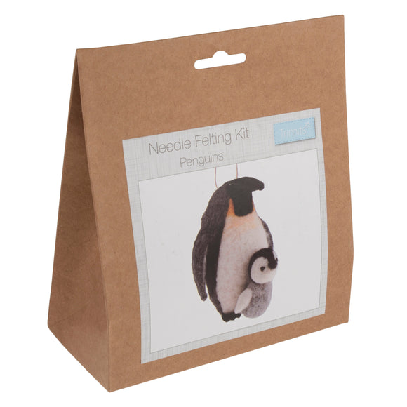 Penguins Needle Felting Kit