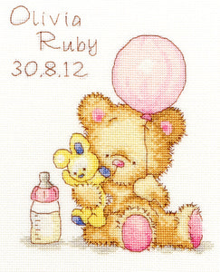 Huggles Balloon Cross Stitch Kit