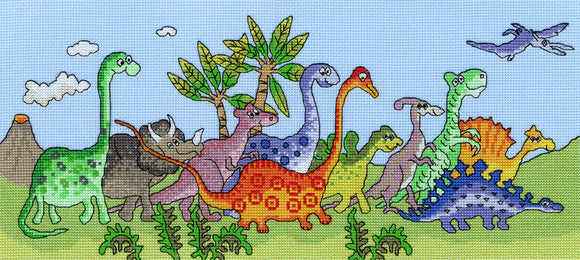Dinosaur Fun Cross Stitch Kit