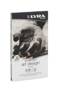 Lyra Rembrandt Art Design 6B-4H Graphite Pencils 12 Set