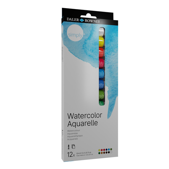 Simply Watercolour Tube 12 Set