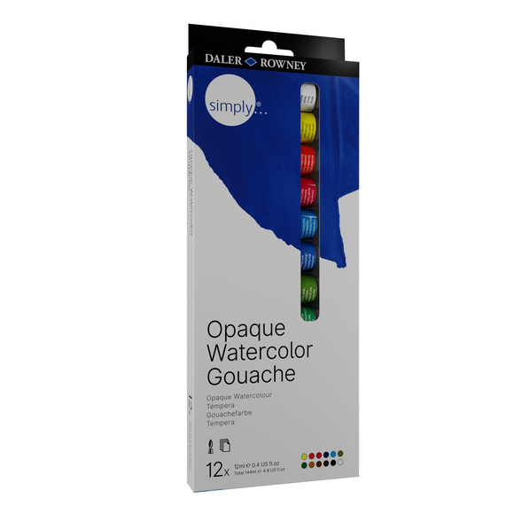 Simply Gouache Tube 12 Set