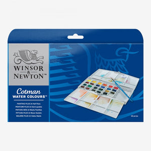Cotman Painting Plus 24 Half Pan Set