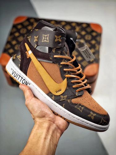 Louis Vuitton Jordan 1's Off-white Shoes