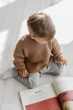 Load image into Gallery viewer, Kids of April Chunky Jumper in Toffee