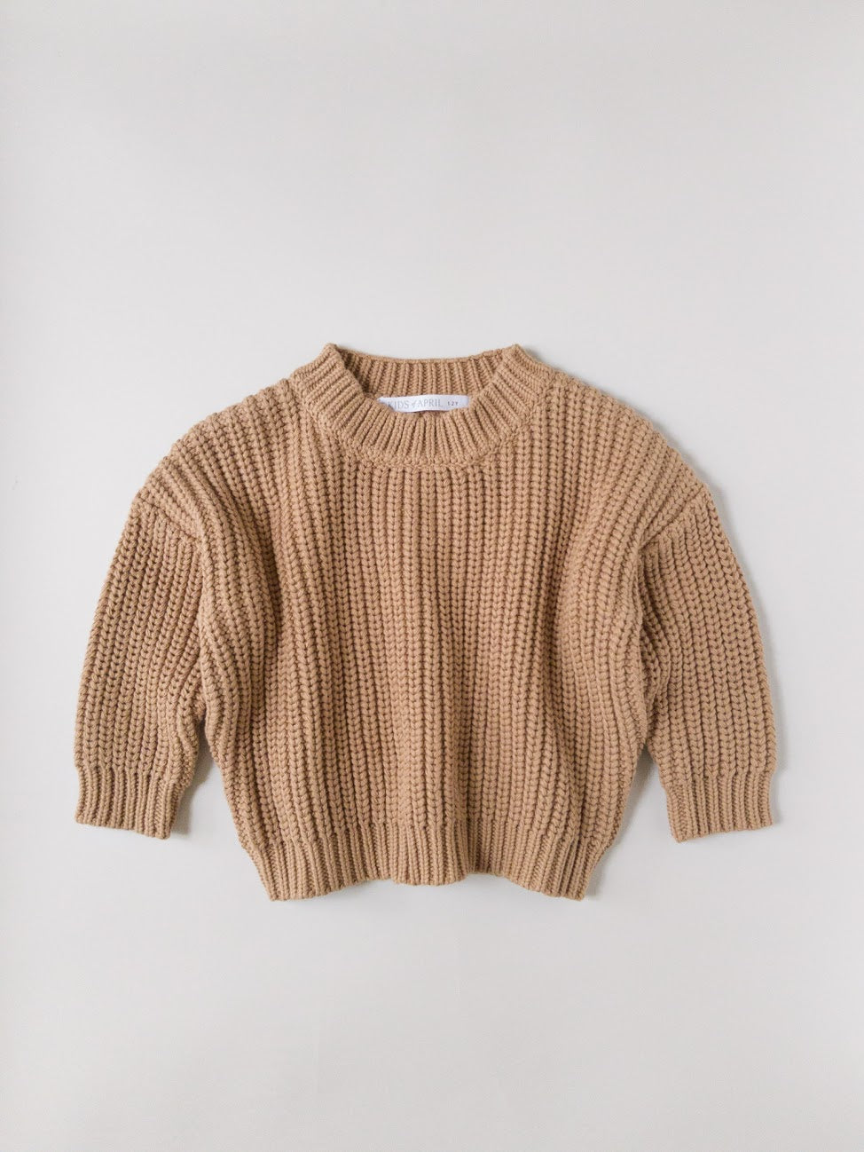 Kids of April Chunky Jumper in Toffee