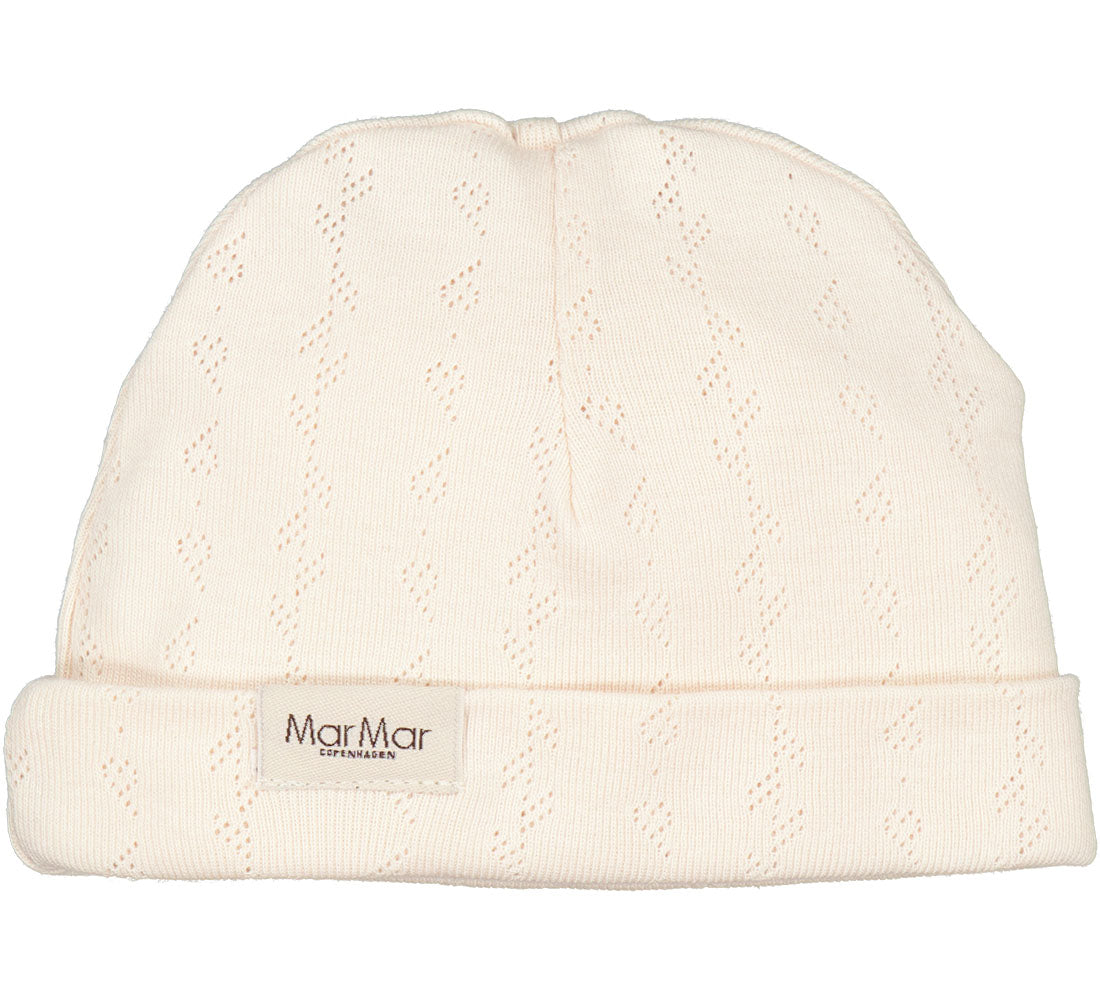 MarMar Aiko Pointelle Newborn Hat in Delicate Rose