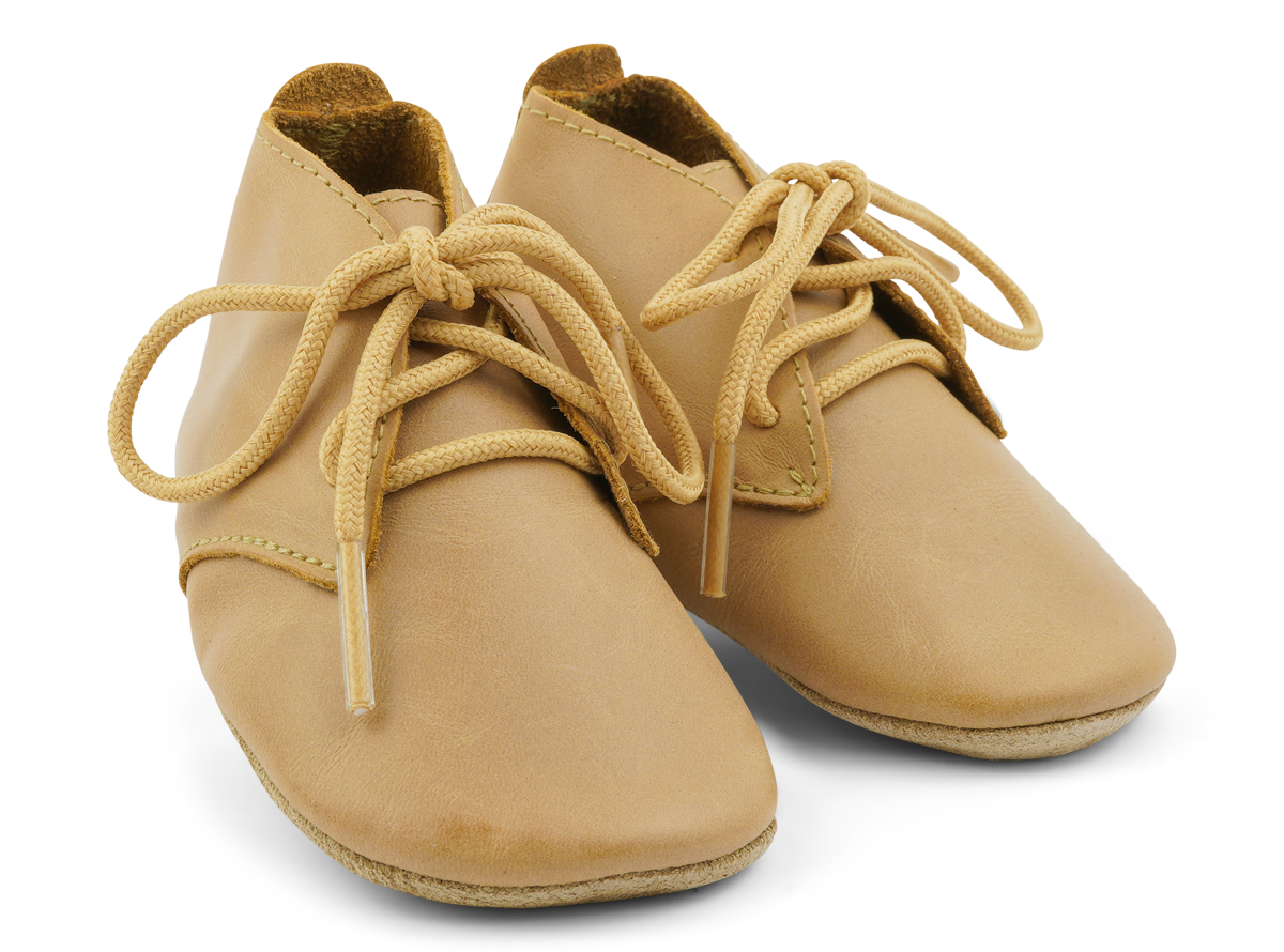 Bobux Soft Sole Desert Lace Up Shoe in Caramel