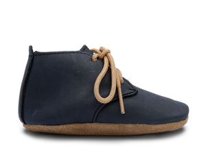 Bobux Soft Sole Desert Lace Up Shoe in Navy