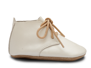 Bobux Soft Sole Desert Lace Up Shoe in Pearl