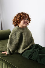 Load image into Gallery viewer, Daily Brat Oversized Teddy Jumper Sage