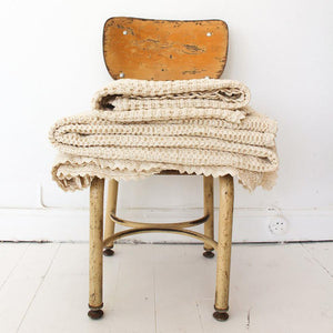 PRE-ORDER Fin & Vince Organic Cotton Waffle Blanket - Milk