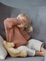 Load image into Gallery viewer, Kids of April Chunky Jumper in Terracotta