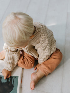 PRE-ORDER Kids of April Chunky Jumper in Almond