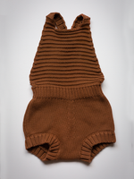 Load image into Gallery viewer, The Simple Folk Knit Romper in Rust