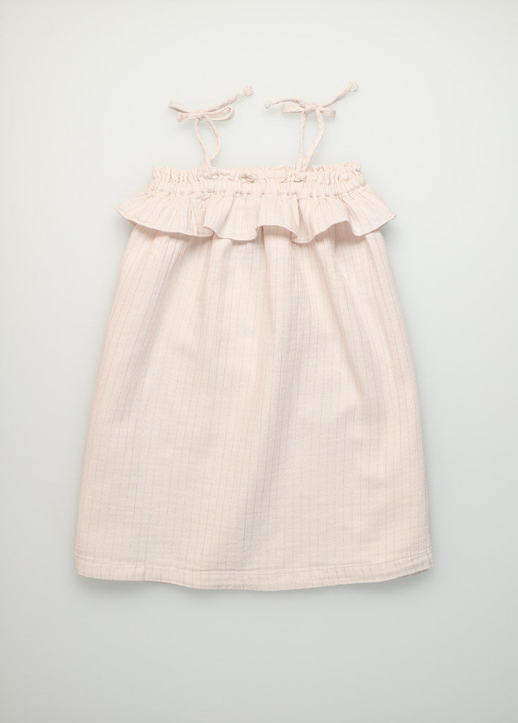 The New Society Claire Organic Cotton Muslin Dress Blush