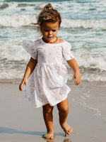 Load image into Gallery viewer, Oak Meadow Daisy Fleur Mini Smock Dress