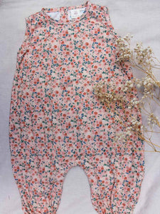 Oak Meadow Posey Peach Overalls