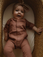 Load image into Gallery viewer, The Simple Folk Valentine Romper in Cinnamon