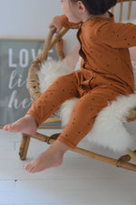 Load image into Gallery viewer, Bonjour Little Dots Nut Day + Night Jumpsuit