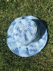 Crochet Bucket Hat - Blue