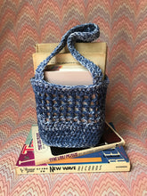 Load image into Gallery viewer, Crochet Mini Mini Market Tote - Navy Melange