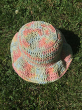 Load image into Gallery viewer, Crochet Bucket Hat - Rainbow