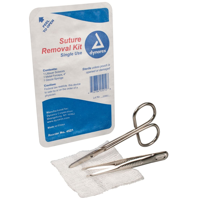 Kit para remoción de sutura estéril desechable, Alternative Acme Alfresa