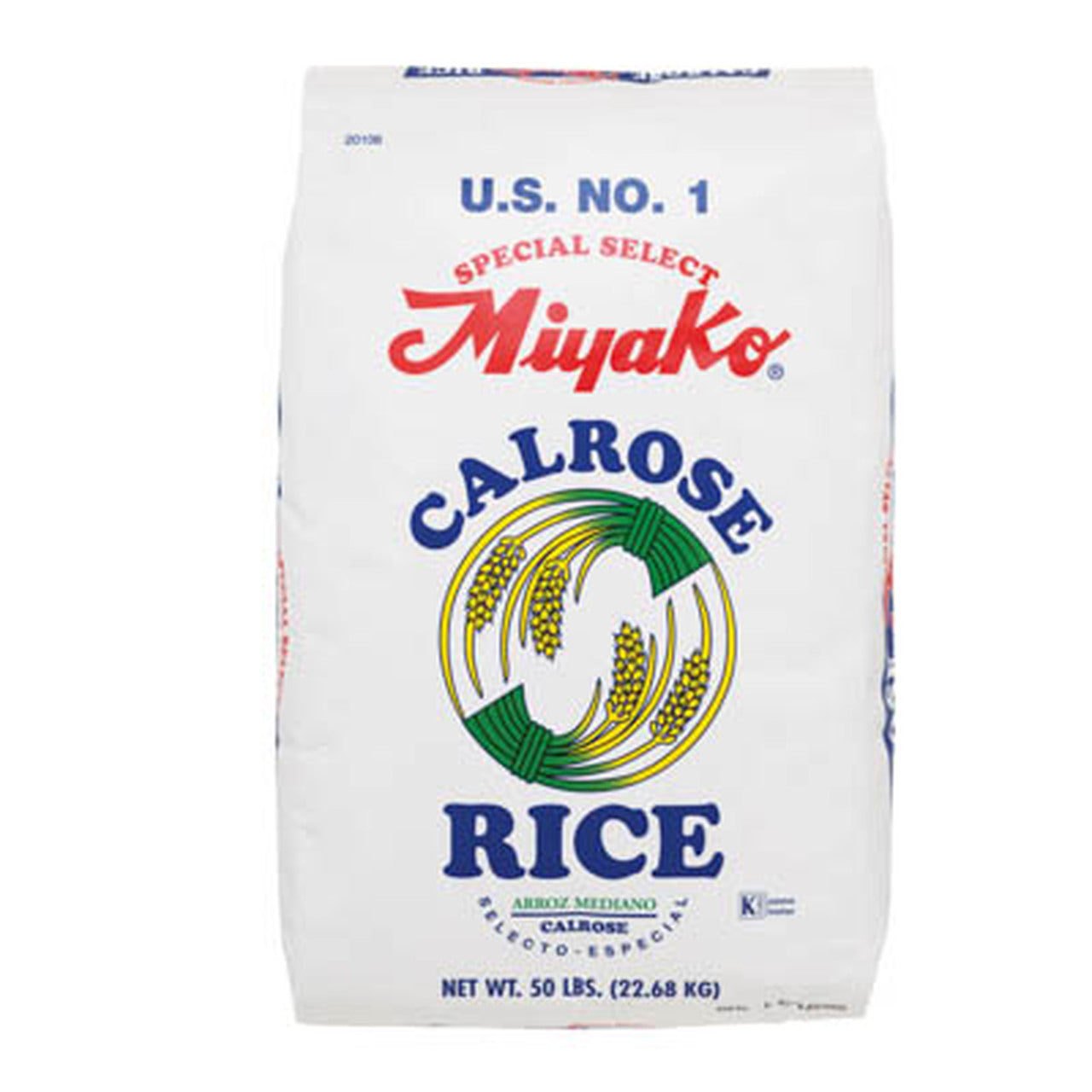 Miyako Calrose Medium Grain White Rice 50lbs (22.68kg) (SKU: 20106)