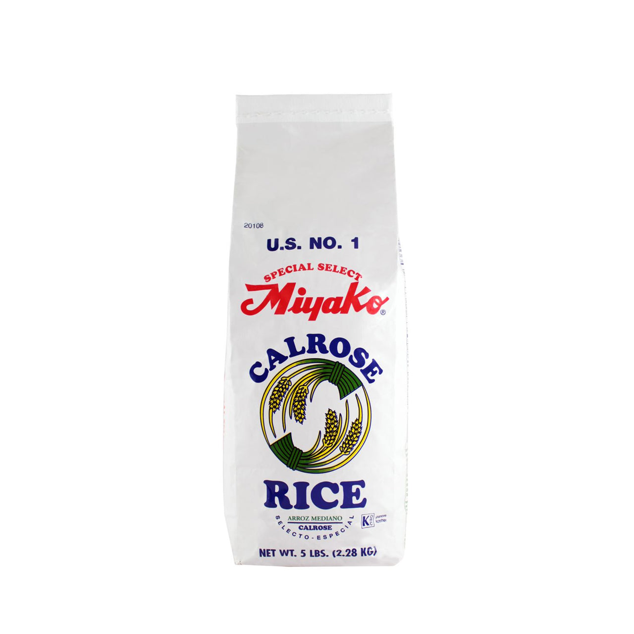 Miyako Calrose Medium Grain White Rice - 5lbs (2.28kg) (SKU: 20108)