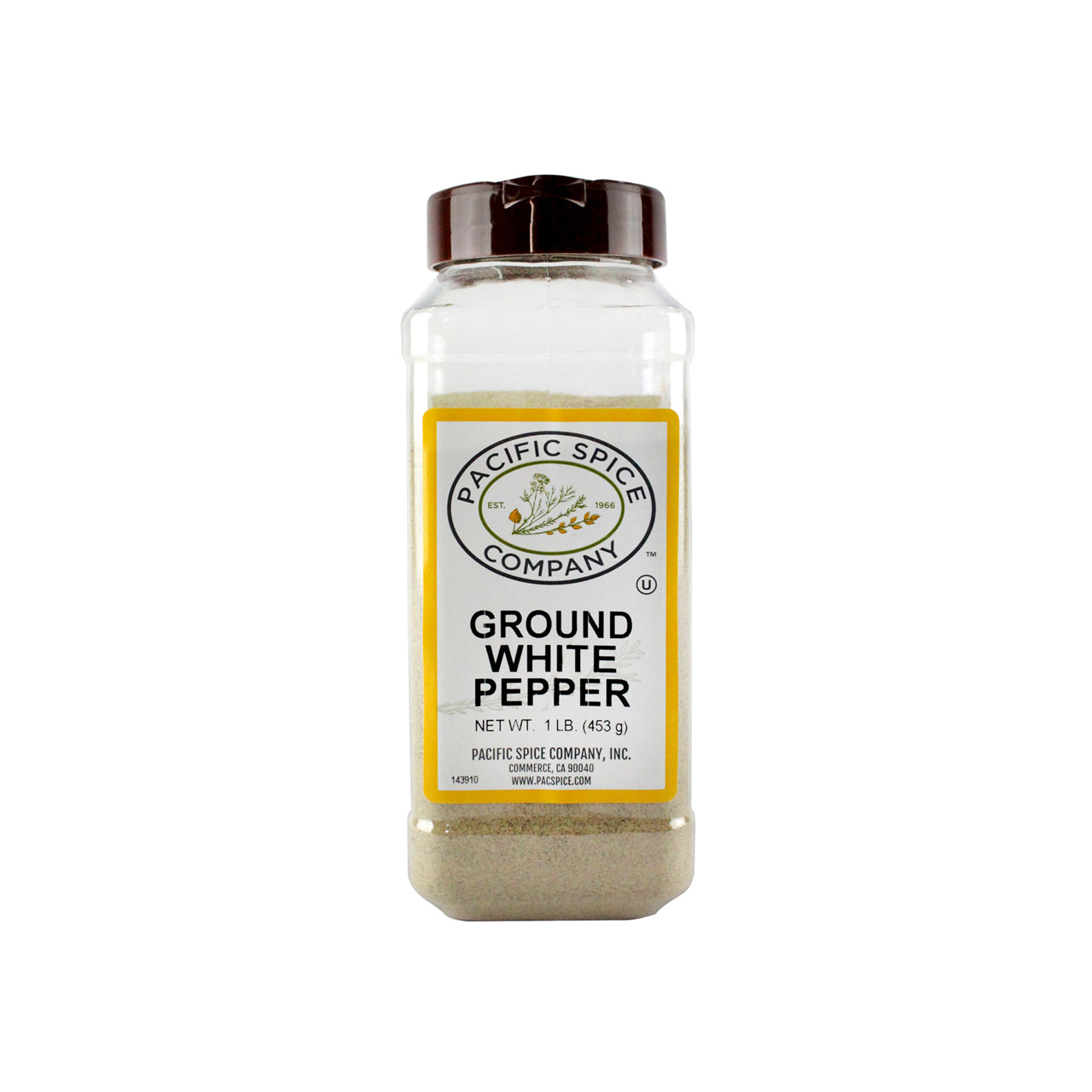Pacific Spice Company White Pepper 1lb (453g) (SKU: 30322-1)