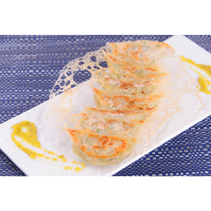 Kinjirushi Yuzu Kosho Citrus Chili Paste 3.17oz (90g) (SKU: 70489) is good to go with gyoza (pot stickers).