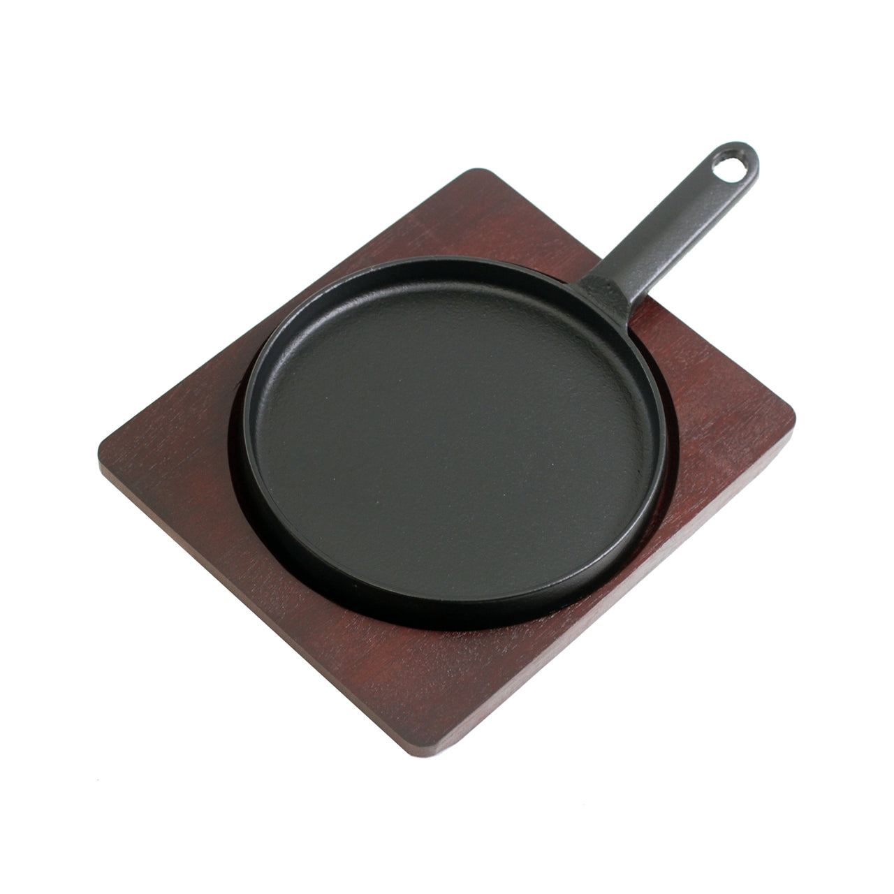 "Round Cast Iron Sizzling Plate (6.61"" dia.) (SKU: 90019)"