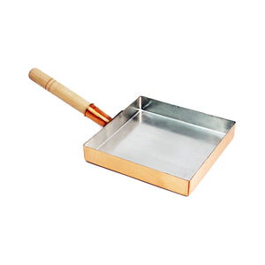 "Copper Tamagoyaki Omelette Pan - Medium (SKU: 91366) - 8.5"" (21.5cm) x 8.5"" (21.5cm)"