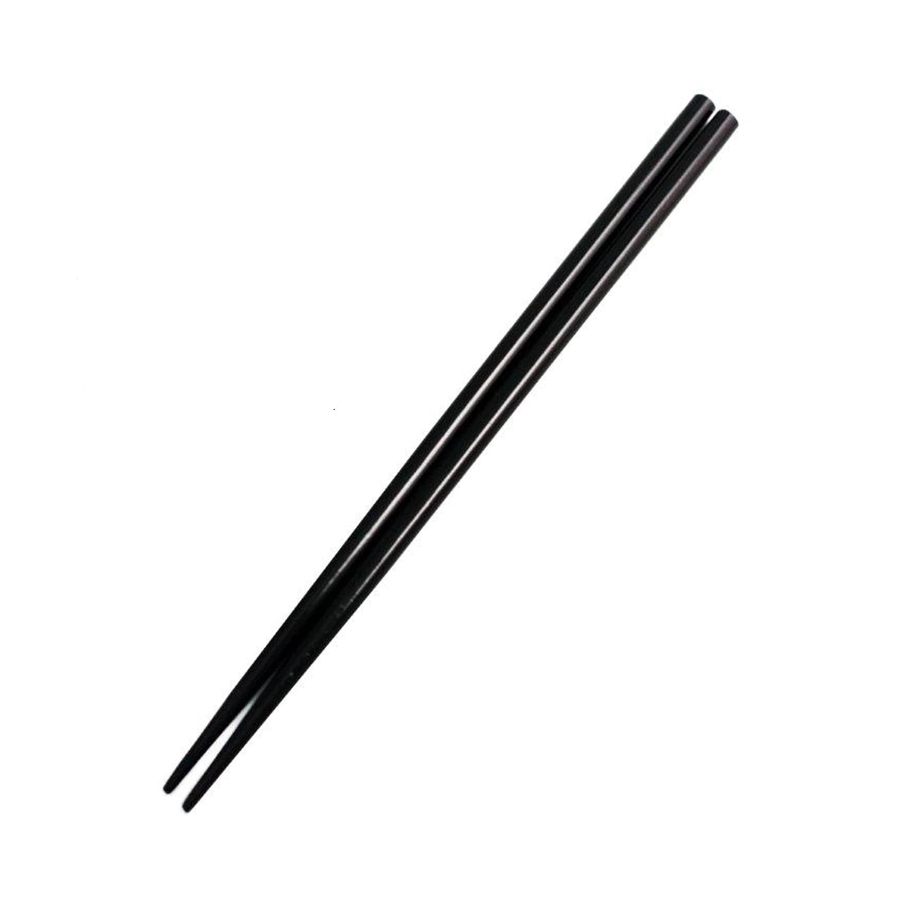Lacquered Wooden Chopsticks Black (10 pairs/pack) (SKU: 91692)