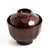 Kikko Soup Bowl Mokume with Lid 7 fl oz (Brown) (SKU: 92158)