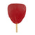 Red Lacquered Uchiwa Fan Natural Handle (SKU: 93004)