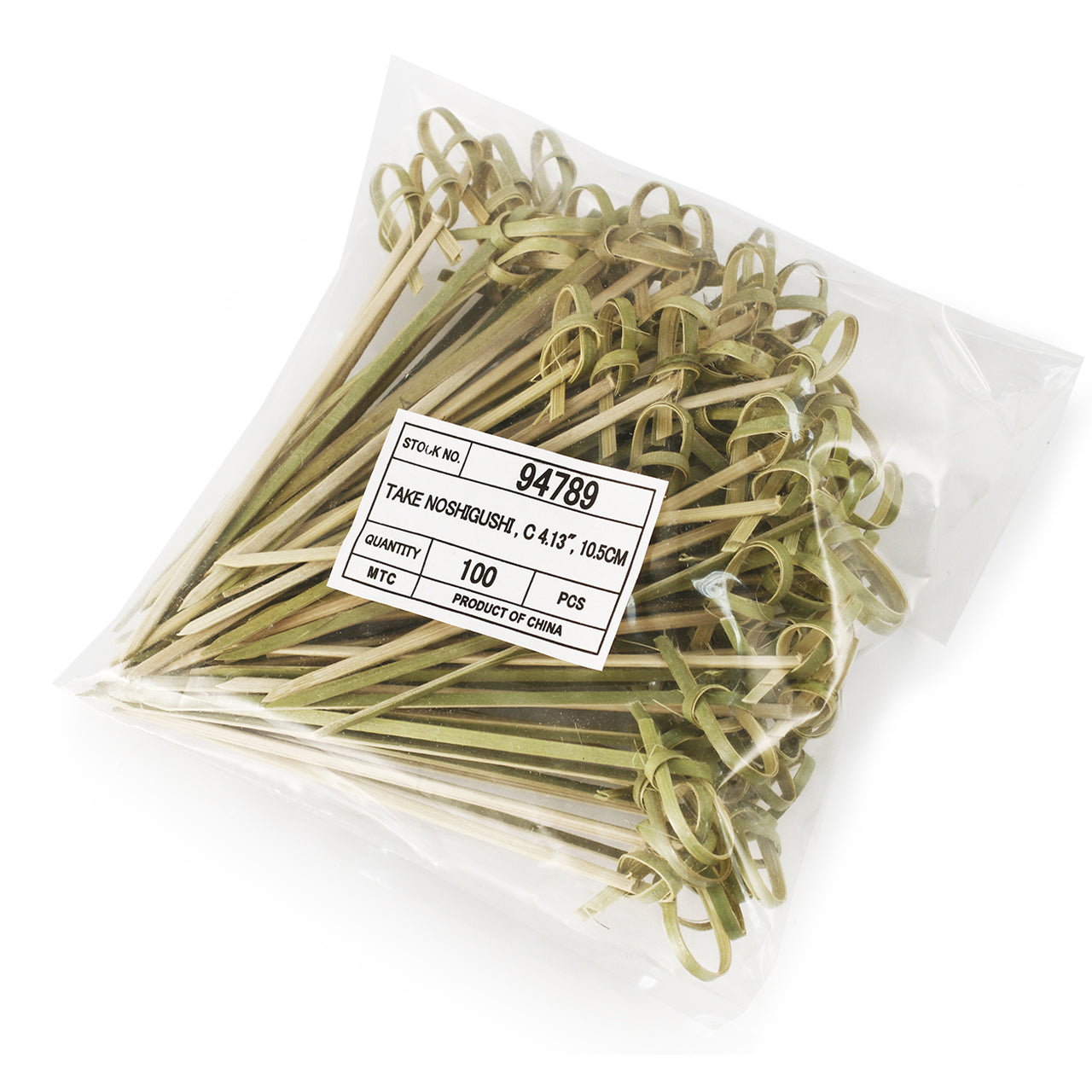 "Knotted Bamboo Skewers (100 pcs/pk) - 3.5"" (cm) (SKU: 94036)"