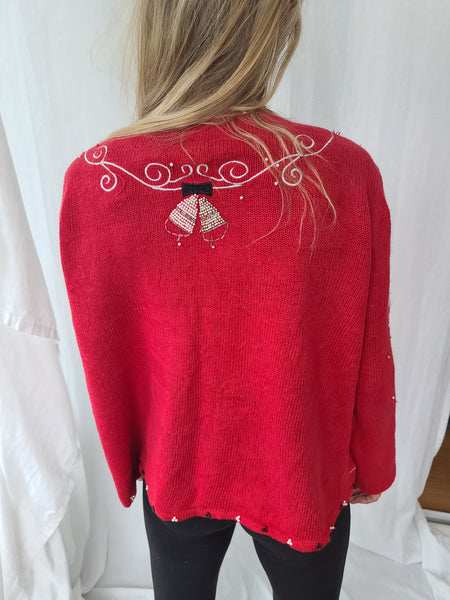 Bells and Snowflake Pearl-like Sweater