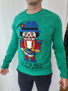Let's Get Cracking Nutcracker Sweater