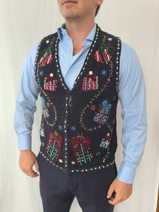 Highly Embellished with Beads and Stones Christmas Vest