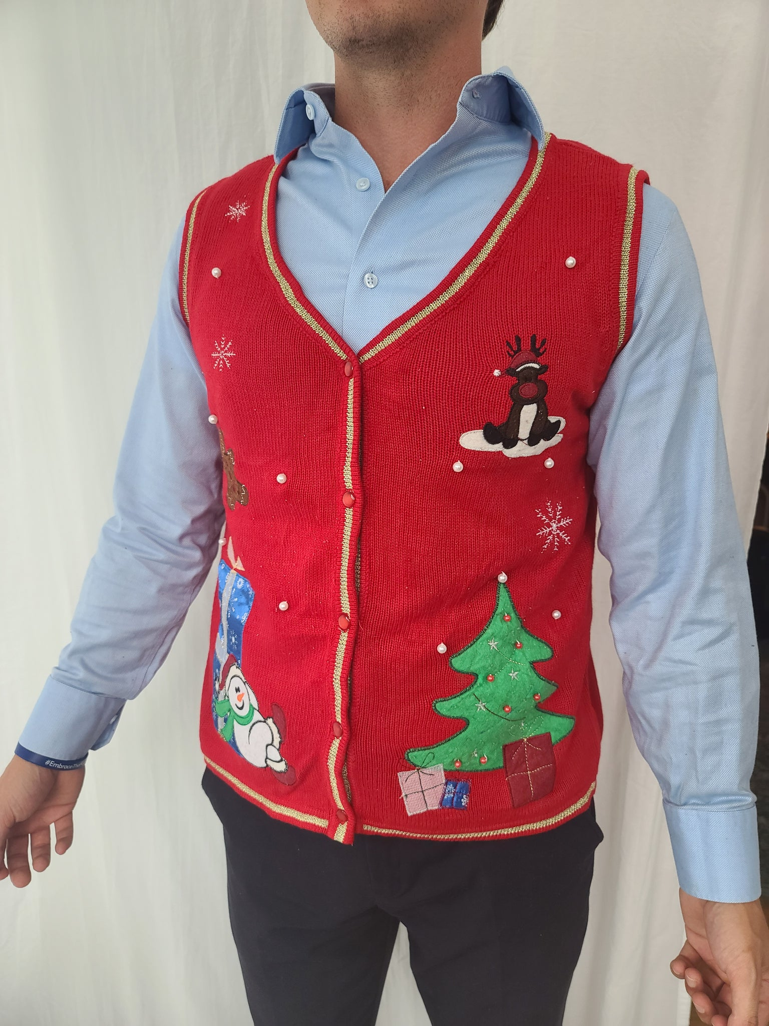 Classic Red Christmas Vest